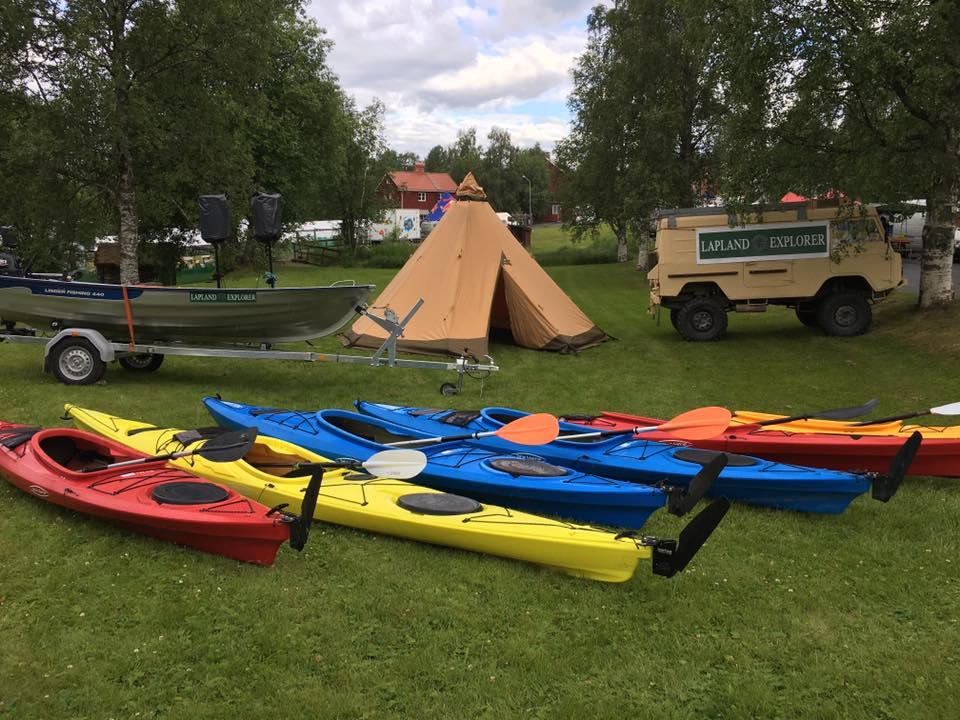 Kanot och kajak i Norrland med Lapland Explorer